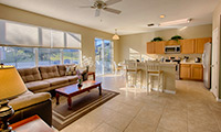 The Retreat at Legacy Park Newly Refurbished 4 Bedroom 3 Bath Orlando Villa with South Facing Pool