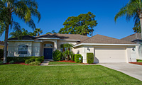 Ridgewood Lakes Luxury 4 Bedroom 3 Bath Orlando Villa with Fabulous Rear Views to Lakes & Golf Course.